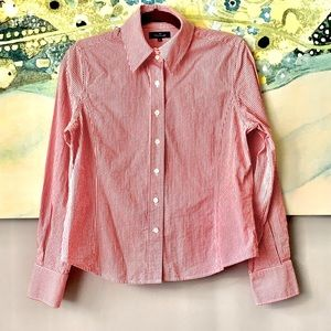 NWOT💖Faconnable Pink Gingham Shirt M